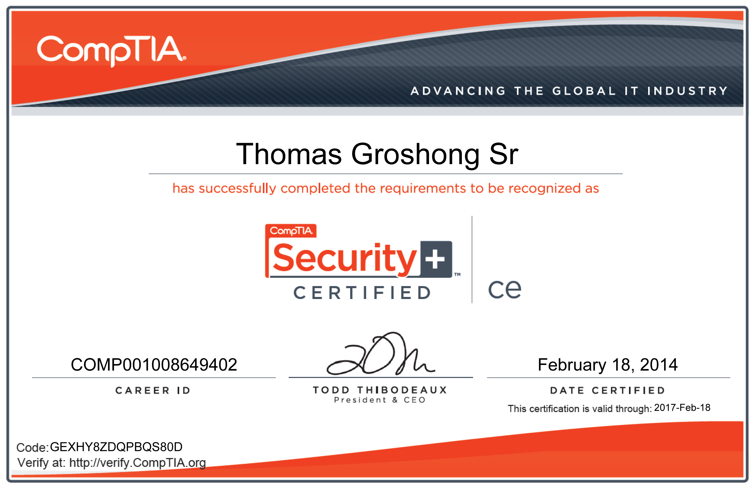 comptia a Comptia a+ certification is an internationally recognised, vendor-neutral  certification that many employers consider a prerequisite for.